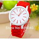 preiswerte Modische Uhren-Damen Armbanduhr Schlussverkauf / / Silikon Band Heart Shape / Freizeit Weiß / Ein Jahr / Jinli 377
