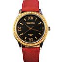 preiswerte Becher & Tassen-YAZOLE Damen Armbanduhr Quartz Schlussverkauf Cool / PU Band Analog Freizeit Modisch Schwarz / Blau / Silber - Gelb Rot Blau