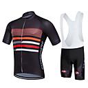cheap Cycling Jersey & Shorts / Pants Sets-Fastcute Men's Women's Short Sleeves Cycling Jersey with Bib Shorts - Black Bike Bib Shorts Bib Tights Jersey Clothing Suits, 3D Pad,