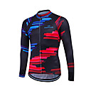 cheap Cycling Gloves-Fastcute Men's Women's Unisex Long Sleeve Cycling Jersey Sports Classic Fashion Bike Sweatshirt Jersey Top, Quick Dry Front Zipper Breathable, Spring Summer Fall, Coolmax® 100% Polyester / Stretchy