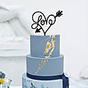 abordables Decoraciones de Pastel-Decoración de Pasteles Tema Clásico Corazones Acrílico Boda con Flor 1pcs Caja de Regalo