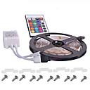 abordables Tiras de Luces LED-KWB 5 m Sets de Luces 300 LED 3528 SMD RGB Control remoto / Cortable / Regulable 12 V / IP65 / Impermeable / Conectable / Adecuadas para Vehículos / Auto-Adhesivas