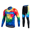 cheap Cycling Jersey & Shorts / Pants Sets-Miloto Men's Women's Long Sleeve Cycling Jersey with Tights Plus Size Bike Pants / Trousers Jersey Tights Breathable 3D Pad Quick Dry Sweat-wicking Sports Polyester Lycra Sports Mountain Bike MTB