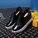 baratos Mocassins Femininos-Mulheres Sapatos Couro Outono Conforto Mocassins e Slip-Ons Salto Plataforma Branco / Preto