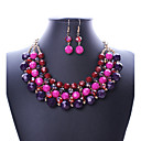 cheap Jewelry Sets-Women's Jewelry Set - Statement, Vintage, European Include Necklace / Earrings Purple / Rainbow For Wedding Party Daily