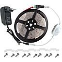 baratos Faixas de Luzes LED-KWB 5m Conjuntos de Luzes 300 LEDs 3528 SMD Branco Quente / Branco / Vermelho Controlo Remoto / Cortável / Regulável 100-240 V / IP65 / Impermeável / Conetável / Adequado Para Veículos / Auto-Adesivo