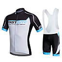 cheap Cycling Jersey & Shorts / Pants Sets-Fastcute Men's Women's Short Sleeves Cycling Jersey with Bib Shorts - Black Bike Bib Shorts Bib Tights Jersey Clothing Suits, 3D Pad,