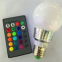 levne LED pásková světla-5W 120lm E26 / E27 LED chytré žárovky G95 1 LED korálky High Power LED Stmívatelné Dálkové ovládání R GB 85-265V 220-240V