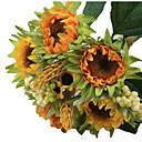 preiswerte Kunstblume-Künstliche Blumen 5 Ast Moderner Stil Sonnenblumen Tisch-Blumen