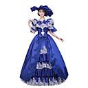 preiswerte Kappenlos-Rokoko Viktorianisch Kostüm Damen Kleid Party Kostüme Maskerade Vintage Cosplay Spitze Baumwolle Boden-Länge Normallänge / Blumen