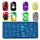 abordables Estampados para Uñas-1 pcs Herramienta de estampado de uñas Estampado de placa Modelo arte de uñas Manicura pedicura Moda Diario / Placa de estampado / Acero