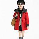 preiswerte Jacken & Mäntel für Mädchen-Mädchen Daunen & Baumwoll gefüttert / Anzug & Blazer-Lässig/Alltäglich einfarbig Polyester Winter / Frühling / Herbst Rosa / Lila / Rot