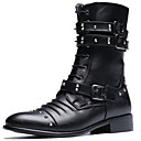 cheap Men's Boots-Men's Combat Boots Synthetic Fall / Winter Boots Black / Party & Evening / Block Heel / Rivet / Party & Evening