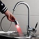 povoljno Sprinkle® kuhinjske slavine-Kuhinja pipa - Suvremena Chrome Visok / High Arc Nadgradni umivaonik / Jedan obrađuju dvije rupe