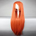 olcso Szexi egyenruhák-Szintetikus parókák / Jelmez parókák Női Egyenes Piros Szintetikus haj Piros Paróka Sapka nélküli Narancssárga hairjoy