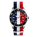 cheap Dress Watches-SKMEI Men's Wrist Watch Calendar / date / day / Water Resistant / Water Proof / Casual Watch Fabric Band Luxury / Casual / Fashion White / Blue / Red