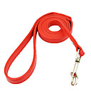 cheap Dog Collars, Harnesses & Leashes-Dog Leash Casual Solid Stripe PU Leather White Black Red Blue Pink