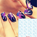 billige Rhinsten&Dekorationer-5 Nail Art Sticker Udstansede Manicure Stencil Makeup Cosmetic Nail Art Design
