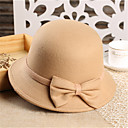 cheap Party Headpieces-Women's Party Fedora Hat - Solid Colored Bow