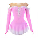 cheap Ice Skating Dresses , Pants & Jackets-Figure Skating Dress Women's / Girls' Ice Skating Dress Pink Spandex Rhinestone / Appliques / Lace High Elasticity Performance Skating