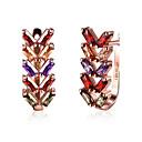 رخيصةأون حلقات الأذن-للمرأة الماس الاصطناعية أقراط قطرة - زركون, تقليد الماس قلب موضة قوس قزح من أجل زفاف حزب يوميا