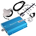 cheap Synthetic Capless Wigs-Blue CDMA 850MHz Cell Phone Signal Booster Amplifier with YaGi and Ceiling Antennas Kit