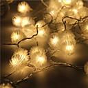 رخيصةأون أضواء LED-5m أضواء سلسلة 40 المصابيح تراجع LED أبيض دافئ ضد الماء / قابلة للربط 5 V 1SET / IP44