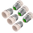 baratos Extratores-youoklight 6pcs e27 para e14 conversor de adaptador de lâmpada de luz lâmpada - prata branca