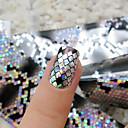 baratos Papel Alumínio para Unhas-1 pcs Autocolantes de Unhas 3D arte de unha Manicure e pedicure Fashion Diário / Etiquetas de unhas 3D