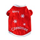 cheap Pet Christmas Costumes-Cat Dog Shirt / T-Shirt Dog Clothes Snowflake Red Cotton Costume For Pets Men's Women's Casual/Daily Christmas