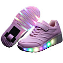 cheap TV Boxes-Girls' Shoes Leather Spring / Summer / Fall Comfort / Light Up Shoes Sneakers Skiing Shoes / Skate Shoes Lace-up / Hook & Loop / LED for Black / Blue / Pink