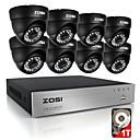 billige Sædeovertræk til din bil-zosi® 8ch 720p hdmi cctv system videooptager 1tb 4stk 720p home security kamera vandtæt overvågningssæt
