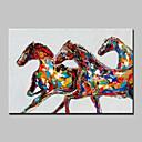 abordables Velos de Boda-mintura® pintura al óleo animal abstracto moderno pintado a mano de la pintura del arte de la pared del lienzo para la decoración casera lista para colgar