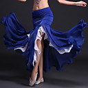 cheap Dance Accessories-Belly Dance Tutus & Skirts Women's Performance Polyester / Milk Fiber Ruffles Natural Skirt