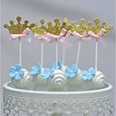 cheap Cake Toppers-Cake Topper Beach Theme Hearts Card Paper Birthday With Bow OPP