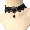 preiswerte Halsbänder-Damen Kristall Quaste Halsketten / Anhängerketten / Tattoo-Hals - Spitze Geometrisch, Tattoo Stil Grün, Blau, Rosa Modische Halsketten Schmuck Für Party