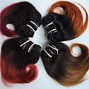 tanie Damskie klapki i japonki-4 zestawy Włosy brazylijskie Body wave Włosy virgin Ombre 8 in Ombre Ludzkie włosy wyplata Ludzkich włosów rozszerzeniach