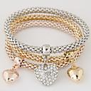 cheap Necklaces-Women's Layered / Stack Charm Bracelet / Bracelet Bangles - Rhinestone, Imitation Diamond Heart, Love Luxury, European, Simple Style Bracelet Rainbow For Gift / Daily / Valentine