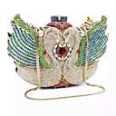 cheap Clutches & Evening Bags-Women's Bags PU / Metal Clutch Crystal / Rhinestone Gold / Silver / Light Blue / Rhinestone Crystal Evening Bags