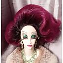 baratos Spinners de mão-Perucas sintéticas Ondulado Natural Corte em Camadas Cabelo Sintético 100% cabelo kanekalon Roxo Peruca Mulheres Médio / 45cm Frente de Malha