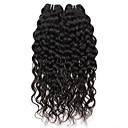 billige Clutch- og aftenvesker-2 pakker Brasiliansk hår Vann Bølge Ekte hår Menneskehår Vevet Hårvever med menneskehår Hairextensions med menneskehår Dame / Vannbølger