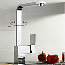 cheap Kitchen Faucets-Kitchen faucet - Contemporary / Art Deco / Retro / Modern Chrome Pull-out / ­Pull-down / Standard Spout / Tall / ­High Arc Vessel