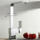 hesapli Mutfak Muslukları-Mutfak Musluğu - Çağdaş / Art Deco / Retro / Modern Krom Pull-out / Pull-down / standart Bacalı / Tall / Yüksek Ark Lavabo Teknesi