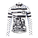 cheap Abstract Paintings-ILPALADINO Women's Long Sleeve Cycling Jersey - Black / White Bike Jersey, Quick Dry, Ultraviolet Resistant, Breathable