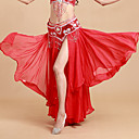 cheap Belly Dance Wear-Belly Dance Tutus & Skirts Women's Performance Polyester / Spandex Cascading Ruffle Natural Skirt