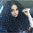 billige Blondeparykker med menneskehår-Remy-hår Blonde Forside Parykk Krøllet 130% 150% 180% tetthet 100 % håndknyttet Afroamerikansk parykk Naturlig hårlinje Medium Lang Dame