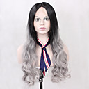 halpa Rooliasu peruukki-Synteettiset peruukit Runsaat laineet Synteettiset hiukset Luonnollinen hiusviiva Musta Peruukki Naisten Lace Front