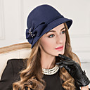 cheap Party Headpieces-Wool Rhinestone Hats Headwear with Floral 1pc Wedding Special Occasion Casual Headpiece