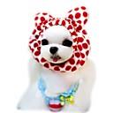 hesapli Yüzük Yastıkları-Kedi Köpek Bandanalar ve Şapkalar Köpek Giyimi Leopar Kahve Kırmzı Pembe Polar Kumaş Kostüm Evcil hayvanlar için Erkek Kadın's Sevimli