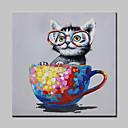 billige Dyremalerier-mintura® håndmalt frøkt kattdyr oljemaleri på lerret moderne abstrakt vegg kunst bilder til stue hjemme dekorasjon klar til å henge